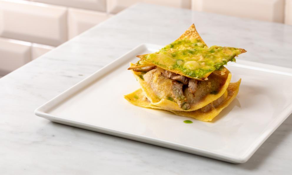 Raviolo di lasagna: la ricetta dell'inverno di Kotaro Noda