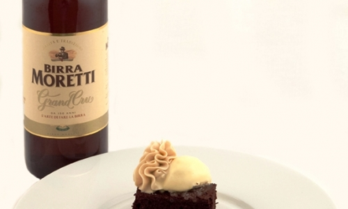 Beer-ingredient: Birra Moretti Baffo d'Oro, beer-matchBirra Moretti Grand Cru