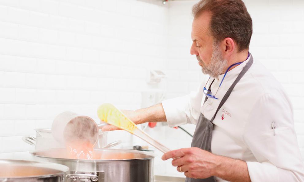 Nicola Portinari, la natura nel piatto (che buono il Semifreddo al pepe verde)