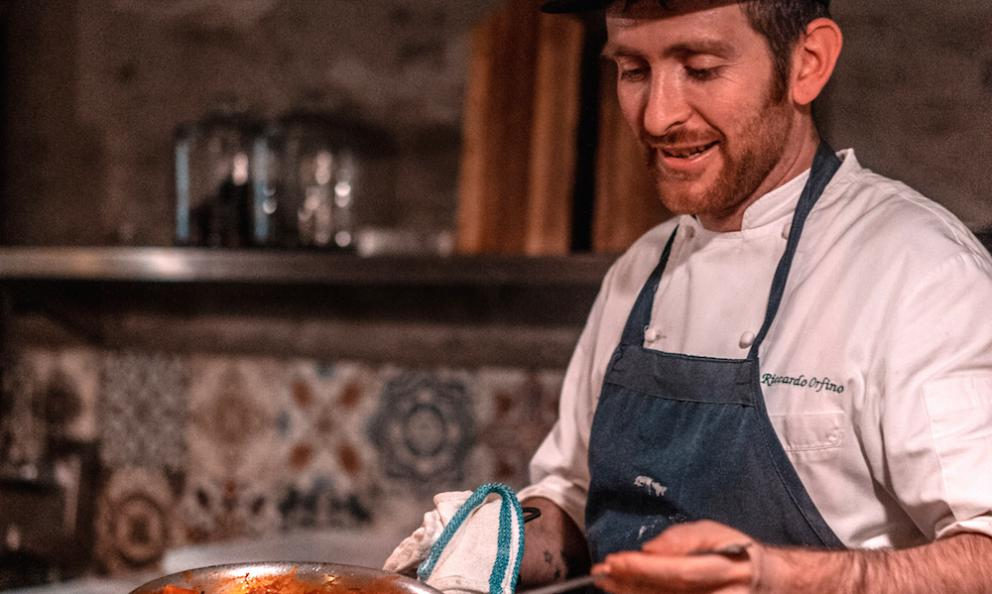 Riccardo Orfino, padovano, 33 anni,è chef diOsteria 57a New York
