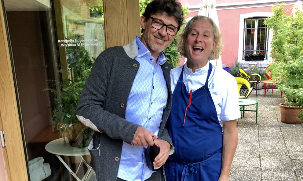 Valter Kramar and Ana Roš, since 2002 at the helm of Hiša Franko in Staro Zelo, a hamlet of Kobarid, in Slovenia, a few minutes' drive from the border and Cividale del Friuli