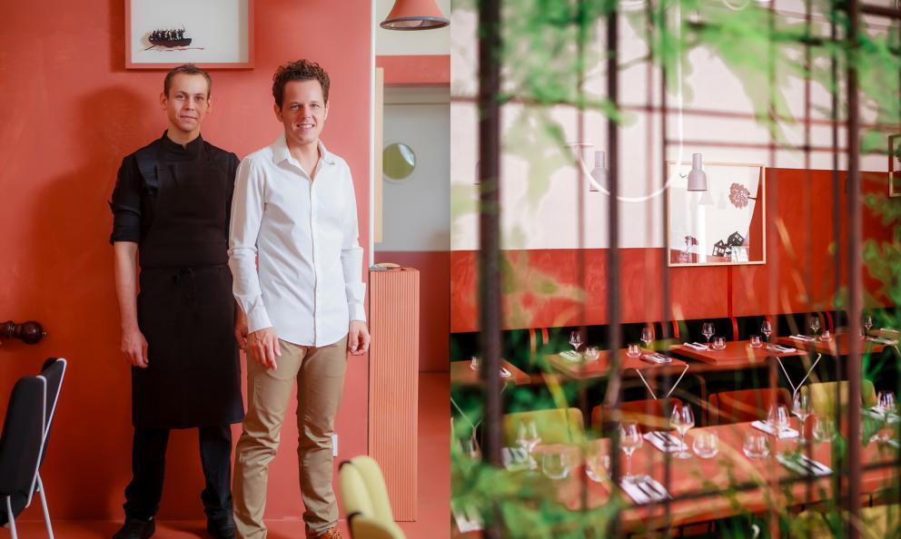 Nicolas SeiboldeThomas Brignard, chef e maître deLa Mutinerie, aperto a Lione nella primavera 2018