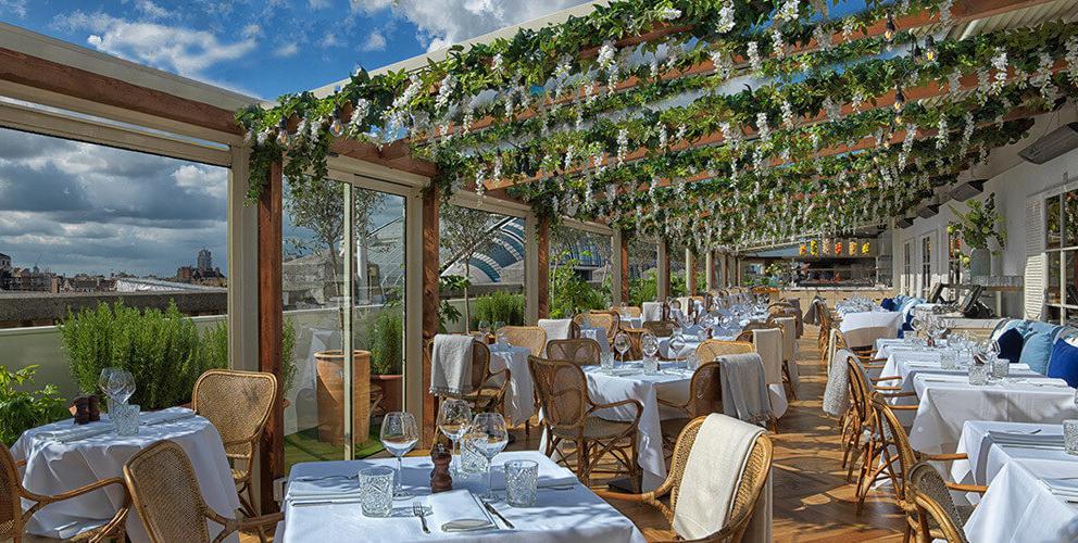 Il rooftop di Selfridges a Londra, che ospita il ristorante alto, sede della serata speciale Viaggio in Italia