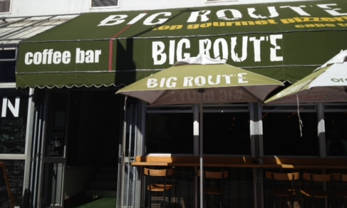 Big Route's entrance, on Greenpoint's Main Roa