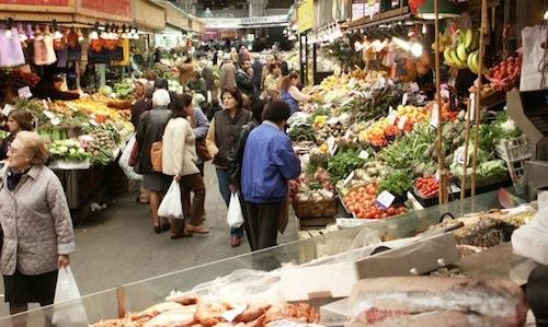 Mercato Orientale in Via XX Settembre in Genoa, an