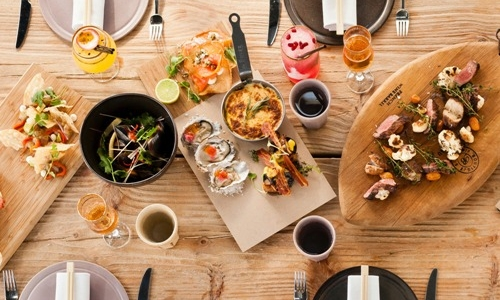 Some of the Asian tapas served in Luke Dale-Robert