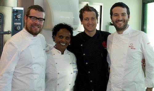 Da sinistra, Eugenio Boer (chef Fishbar de Milan a