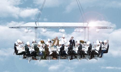 Dinner in the sky:a Londra si può mangiare appe