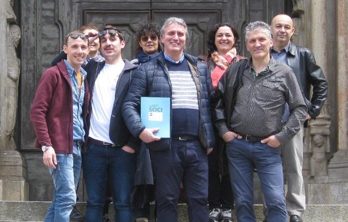 Foto di gruppo dei fondatori delle Premiate Trattorie Italiane