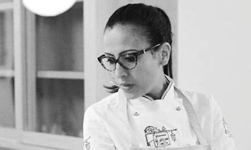 A close up of Colombian chef Maria De La Paz. At 1