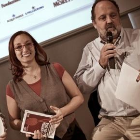Con Paolo Marchi quando fu nominata Cuoca dell'anno dalla Guida di Identità 2012