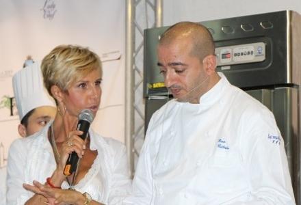 Pino Cuttaia del ristorante La Madia di Licata (Agrigento), autore in Basilicata di unPolpo sulla roccia