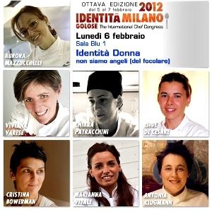 I volti delle 7 protagoniste di Identità Donna (collage di Manuel Crippa)