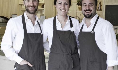 I tre soci Fabio, Monia e Alessandro