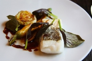 Cod fish with carrots and zucchini byBertrand Grébaut (picture byLindsey Tramuta)