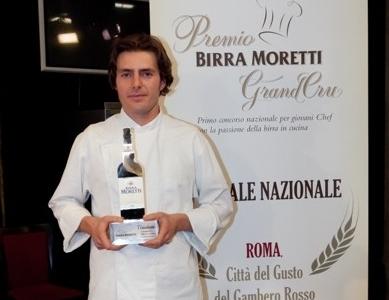 Giuliano Baldessari, vincitore della prima edizione del Premio Birra Moretti Grand Cru. Dopo 10 anni alle Calandre, è pronta per un'insegna tutta sua aBarbarano Vicentino