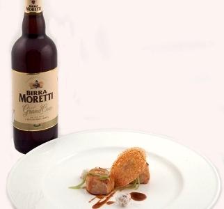 Birra Morettias an ingredient, Birra Moretti Grand Cru as a match
