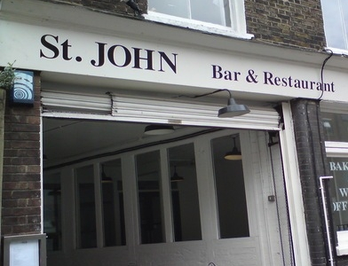 The entrance ofSt. Johnin London, a temple of London meat