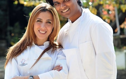 Antonella Ricci and her husband Vinod Sookar, from Mauritius