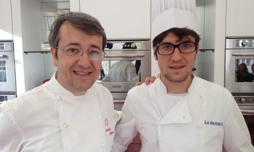 Mattia col padre Marcello, chef de La Bandiera