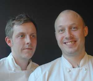 Christopher Haatuft (on the rightm together with his sous chef), chef of restaurant Lysverket in Bergen