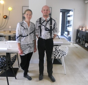 Anita and chef Lars Thomsen