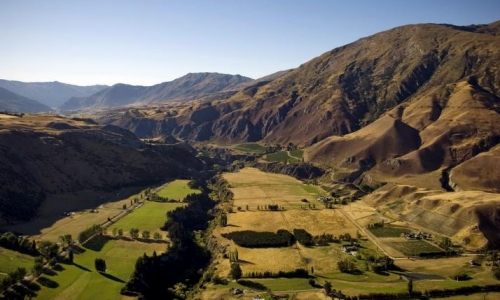 The Gibbston Valley, part of the Wakatipu Basin, in Otago region