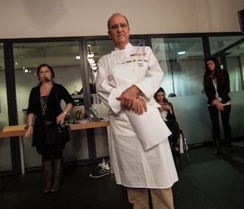 Heinz Beckon stage with pastry-chef Giuseppe Amato