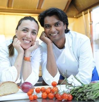 Antonella Ricci, altra new entry tra i giurati. In foto con lei, il marito Vinod Sookar. Lavorano entrambi al ristorante Al Fornello da Ricci di Ceglie Messapica (Brindisi)