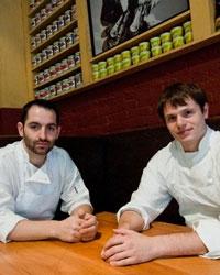 Mario Carbone e Rich Torrisi, co-patron di Torrisi, 2 stelle Michelin