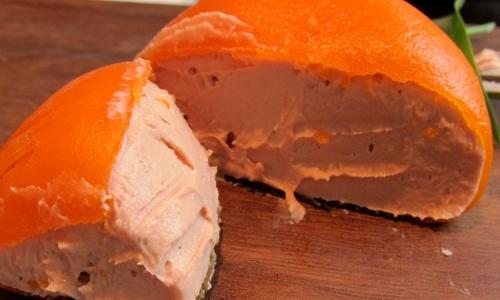 The notoriousChicken liver parfait with mandarin ofHeston Blumenthal