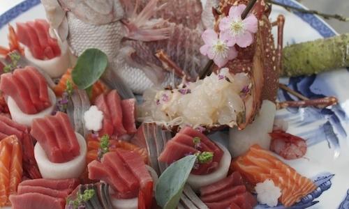 Sashimi di tonno, salmone e orata