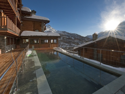 The view out of Principe delle Nevi hotel, located in Strada Giomein 46, Cervinia (Aosta), +39.0166.940992