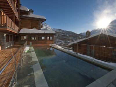 The view out ofPrincipe delle Nevihotel, located in Strada Giomein 46, Cervinia (Aosta), +39.0166.940992