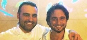 Il cuoco Claudio Sordi con il patron Andrea Zappi, uomo di sala