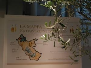 La mappa degli oli laziali