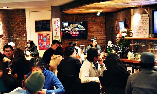 Sake Bar Hagi a Midtown New York. Uno sterminato l