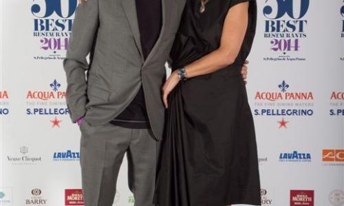 Massimo Bottura con la moglie Lara
