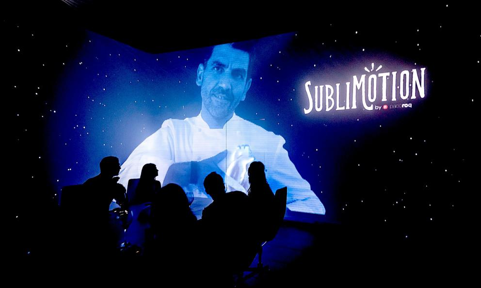 Paco Ronceroappears on the multimedia walls ofSublimotion, the restaurant in Ibiza inside theHard Rock Hotel