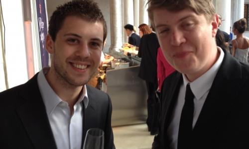 Lorenzo Cogo e Richard Ousby, terzo e primo classificato nella dodicesima edizione della S.Pellegrino Cooking Cup