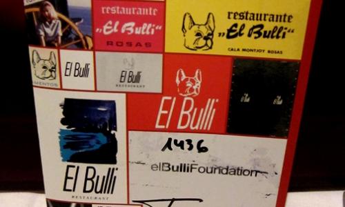 La copertina del menù 2011 del Bulli