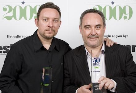 Albert e Ferran Adrià all'edizione 2009 dei S.Pellegrino 50 Best Restaurants a Londra