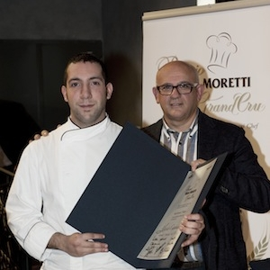 Alessio Cancedda, 23 anni, premiato daClaudio Sadler