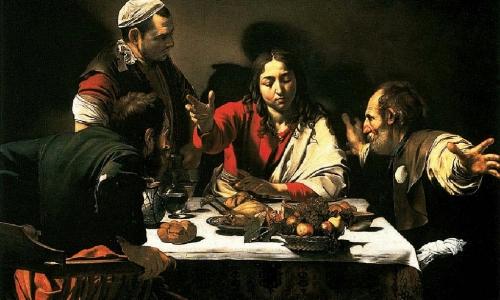 Supper at Emmaus,Caravaggio (1601)