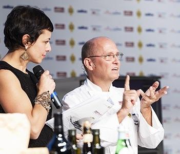 Francesca Barberini ed Heinz Beck della Pergola di Roma, cuoco dell'anno per noi di Identità 2014: l'intelligenza della centrifuga