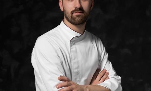 Francesco Ferrari,chef of restaurantLe ScuderieatRelais Faliscoin Civita Castellana (Viterbo)