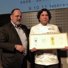 Gaston Acurio a Identità Golose 2014, con Paolo Marchi