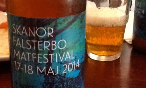 How could one say no to the Festival's official beer?