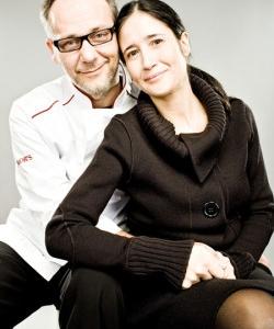 Marcello Leoni, ristorante Leoni di Bologna e Valentina Tepedino, Eurofishmarket (foto Maurizio Camagna)