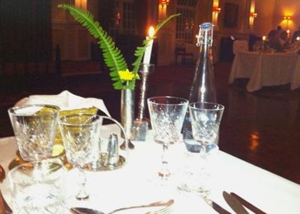 La tavola imbandita alla Livingstone Room.
